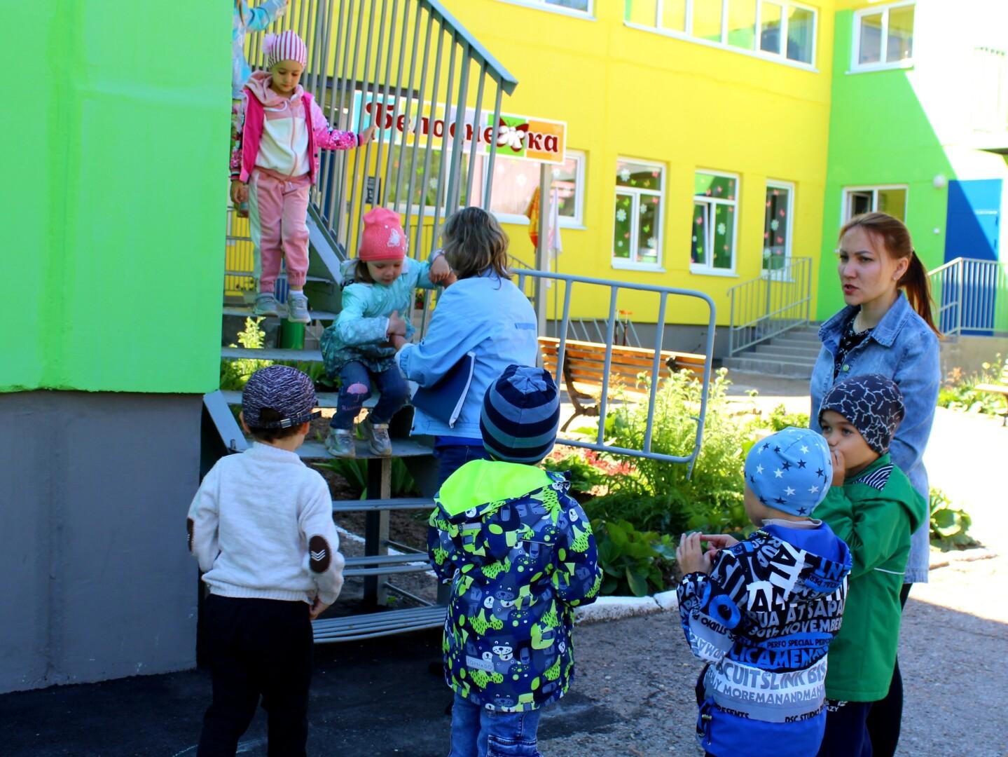 В детском саду прошла учебная эвакуация